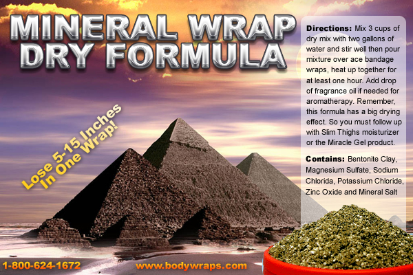 this is a photo of our dry mineral wrap recipe label, click to enlarge