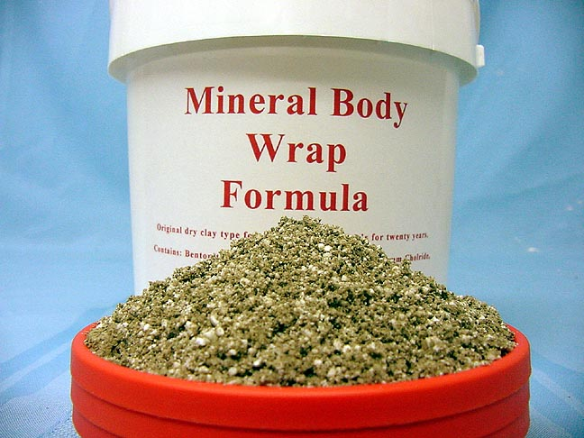 this is a photo of our dry mineral body wrap recipe